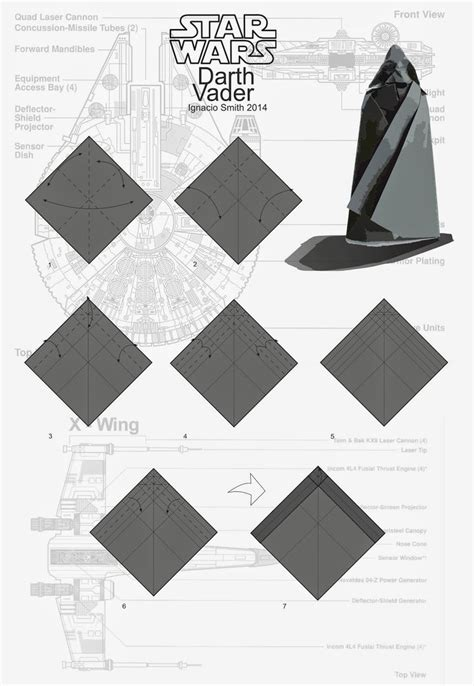 How To Fold Wars Origami - best 20 origami darth vader ideas on