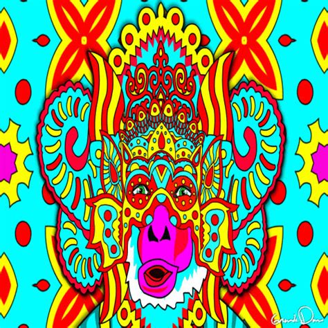 new year monkey gif new year psychedelic gif by grande dame find