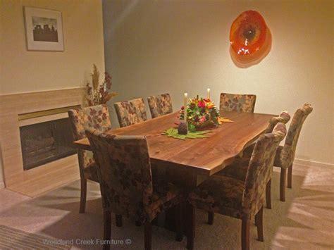 black walnut dining table edge modern dining table live edge solid slab