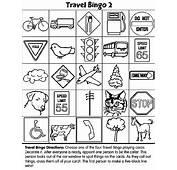 Travel Bingo 2 Coloring Page  Crayolacom