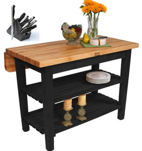 boos kitchen islands sale john boos kib01 o butcher block 48x32 and henckels 13piece