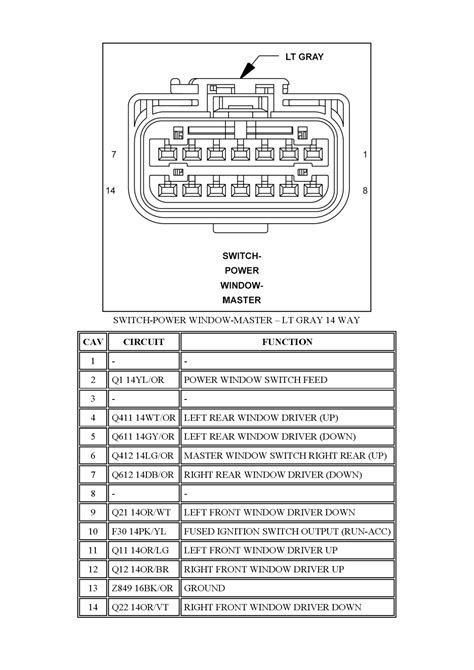 repair guides connector pin charts 2007 switch