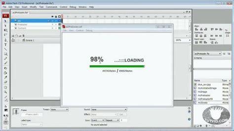tutorial flash loader actionscript 3 preloader flash tutorial photoshop