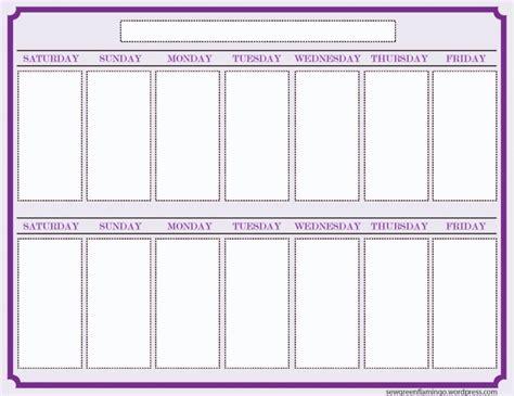 blank 6 week calendar template 2 week blank calendar free calendar template