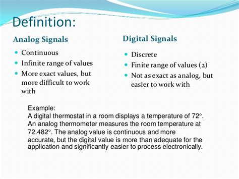 rooming list definition analog and digital signals