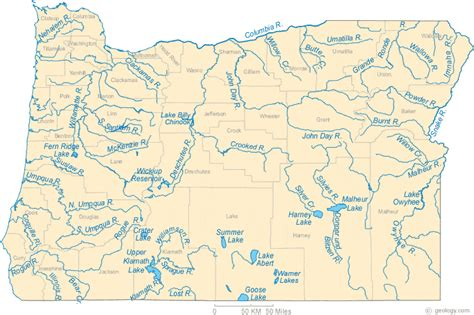 map of oregon rivers map of oregon