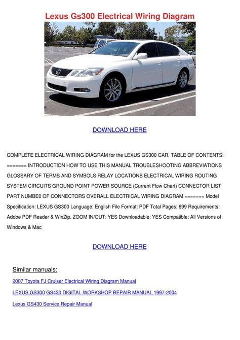 car repair manuals online pdf 2001 lexus gs head up display lexus gs300 electrical wiring diagram by forrestegan issuu