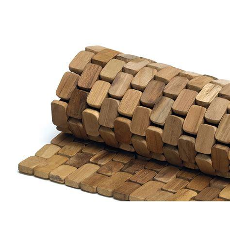 tappeto di legno tappeto per doccia in legno teak naturale 60x80xh1 8cm ad