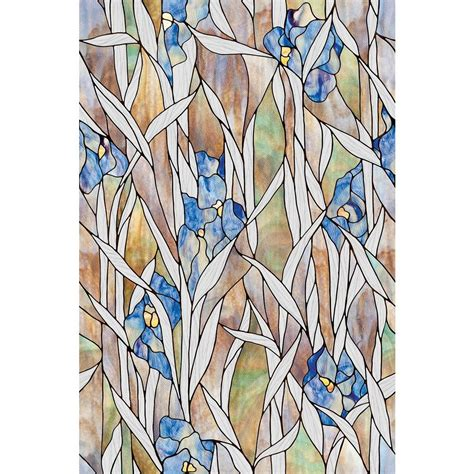 Kitchen Ideas Home Depot artscape 24 in x 36 in iris decorative window film 02