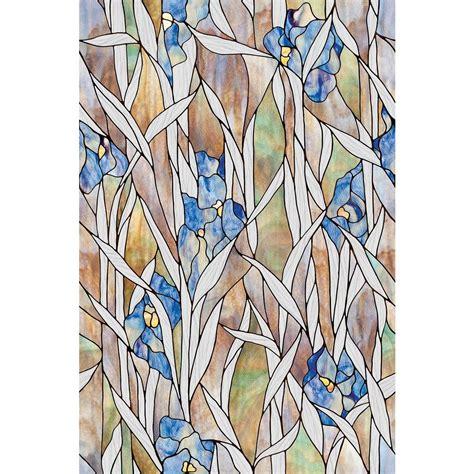 Kitchen Flooring Home Depot Artscape 24 In X 36 In Iris Decorative Window Film 02