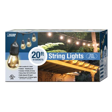 20 light string 20 foot string light feit electric