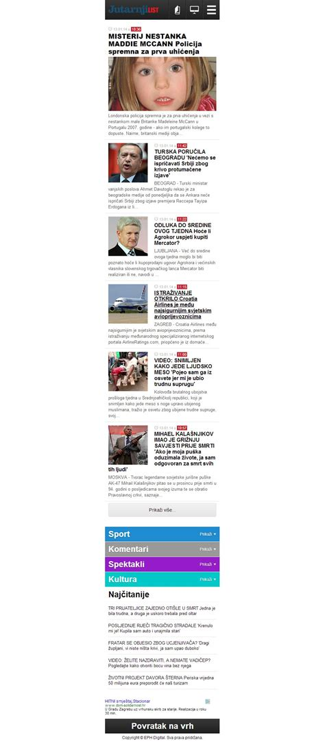 jutarnji list mobile jutarnji list mobile design mustra designs