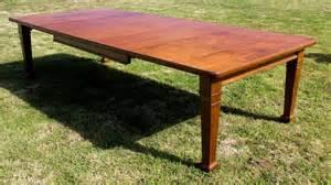 Extending Oak Dining Table Seats 12 Arts Crafts Oak Extending Dining Table 10ft Seats 12