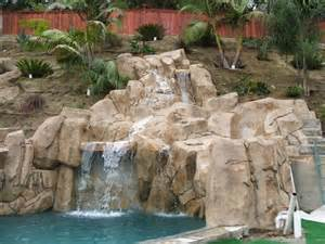 artificial rock waterfalls landscapes swimm