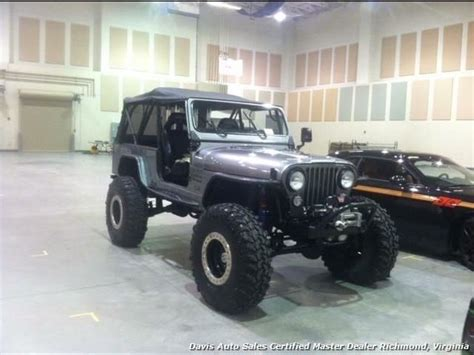 jeep scrambler lifted 1984 jeep scrambler cj8 custom and lifted 45 gray