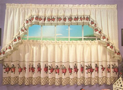apple trellis kitchen curtains