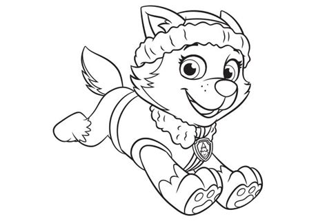 paw patrol blank coloring pages to print everest create paw patrol everest coloring page by