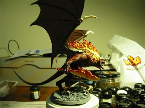 painting balrog workshop realm of battle board with lotr sbg and warhammer 40k