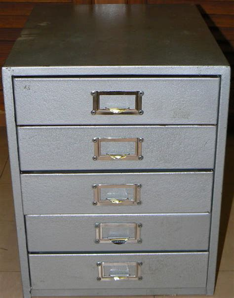 Drawer Filing System by Other Antiques Collectables Vintage 5 Drawer Steel