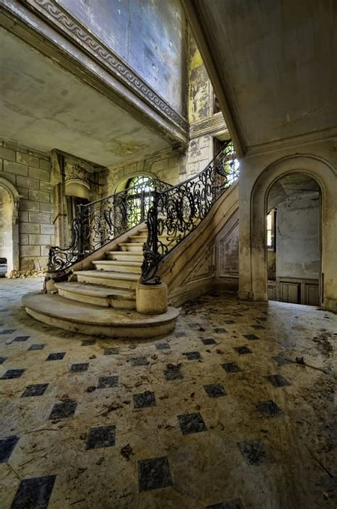 Where Is The Historic Rushmead House old staircase in an abandoned house in france photorator