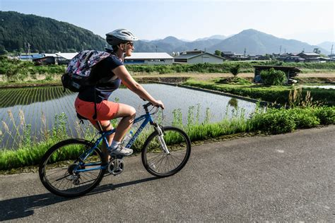 Rice Cooker Ichiko cycling through rice fields must do in japan a matter