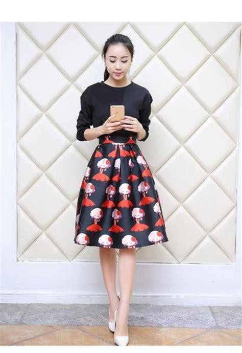 Midi Dress Skirt Dress Korea Fashion Wanita Blouse Kemeja Jepang pretty korean dresses 2017 2018 b2b fashion