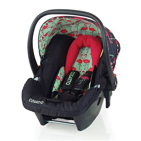 baby car seat cosatto hold 0 plus car seat in flamingo fling kiddicare