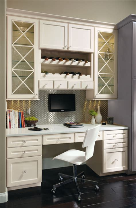 Omega Built In Desk Cabinets Contemporary Desks And Built In Desk