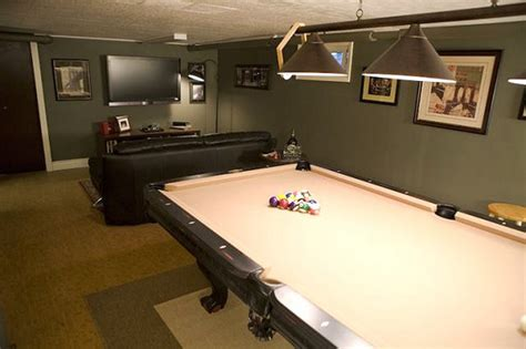 this archetypical 50 s rec room basement features the 12 man tastic man caves my bad pad