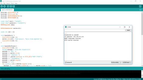er web arduino er simple web server exle of standalone