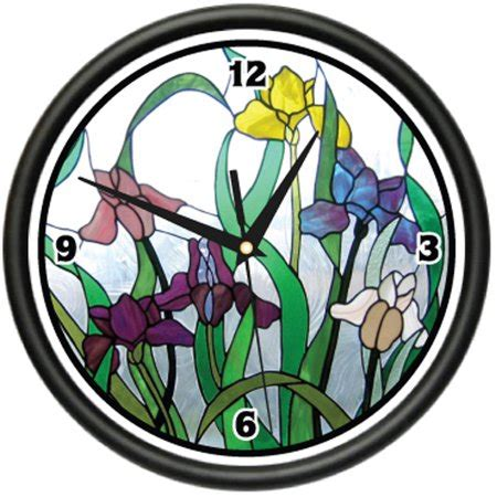 glass kitchen wall clocks stained glass wall clock home kitchen bathroom decor