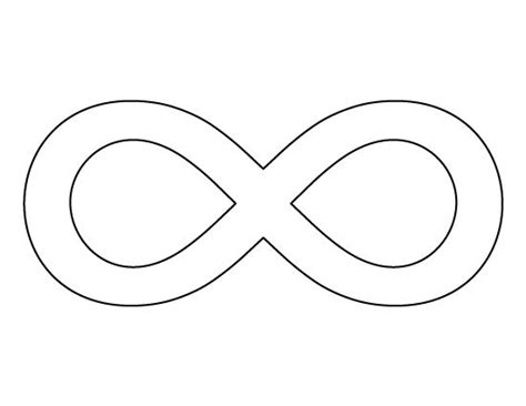 infinity card template infinity symbol pattern use the printable outline for