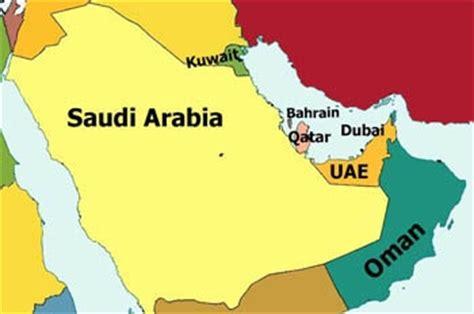 map of arab gulf states gcc countries