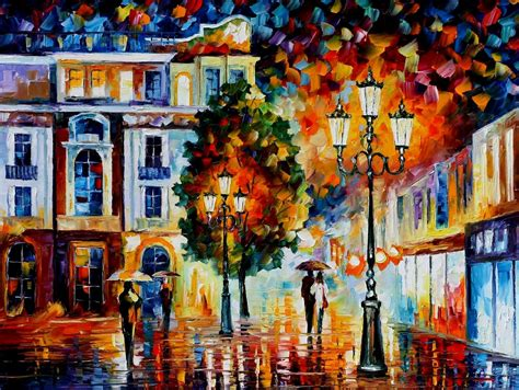 all painting lonely couples palette knife painting on canvas by