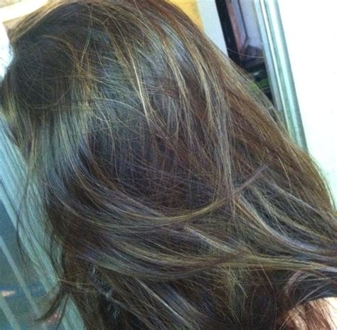 gray frosted hair frosted dark brown hair pictures before after dark brown