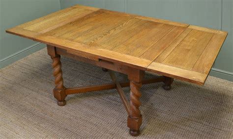 solid oak kitchen table quality antique edwardian solid oak extending kitchen