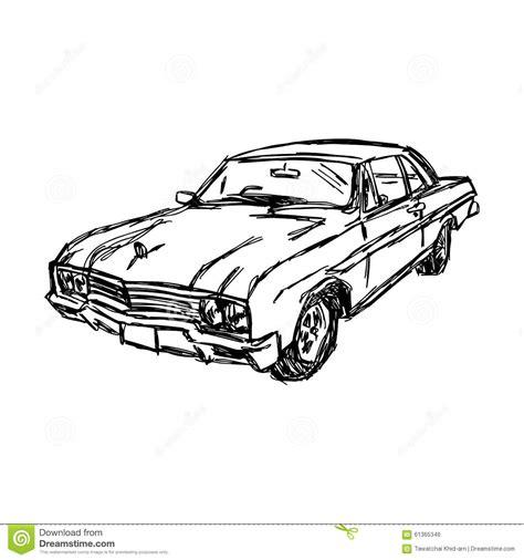 doodle car illustration vector doodle sketch of car