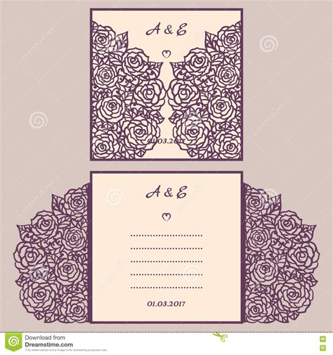paper cutting wedding invitations wedding invitation or greeting card with abstract ornament vector envelope template for laser