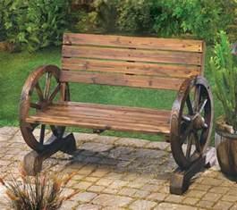 rustic wooden garden bench the rustic wagon wheel garden bench