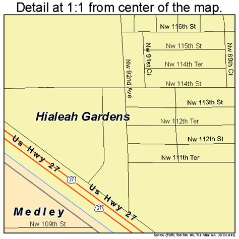 map hialeah florida landsat