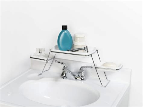 Faucet Shelf by 18 Space Saving Ideas For Your Bathroom Living In A Shoebox
