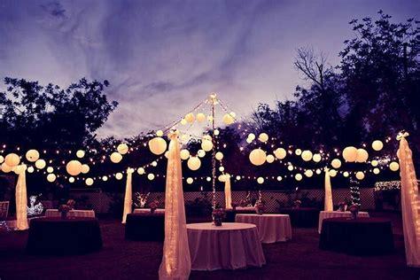 Outdoor Reception Lighting Paper Lanterns Wedding Decorations Lightening