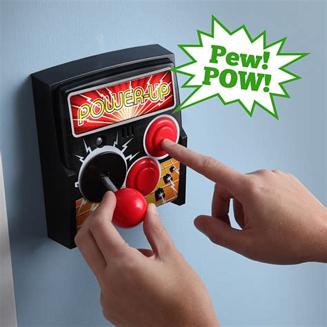 power up arcade light switch plate thinkgeek
