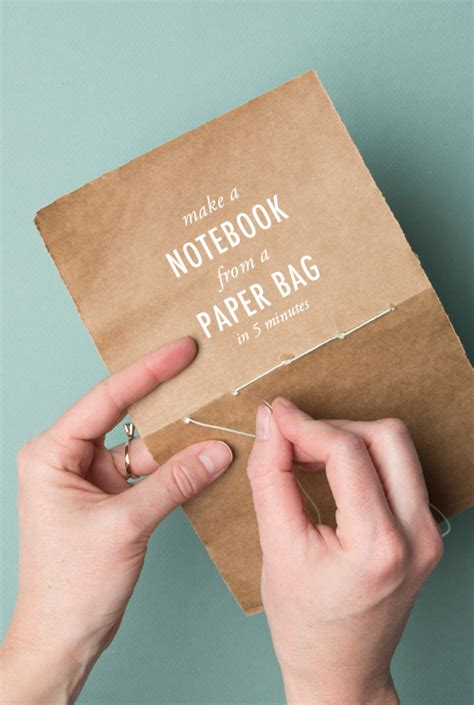 How To Make Paper Notebook - how to make a notebook from a paper bag home and diy