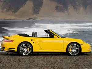 Yellow Porsche 911 2008 Yellow Porsche 911 Turbo Cabriolet Wallpapers