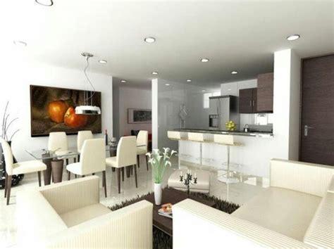 sala comedor cocina integrado ideas  el hogar