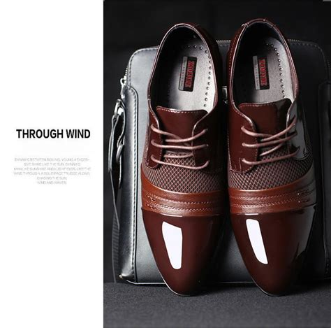 Play Boy Leisure Pointed Mens Leather Shoes Black patent leather shoes fashion mens patent leather brogue shoes black leisure oxfor how to clean