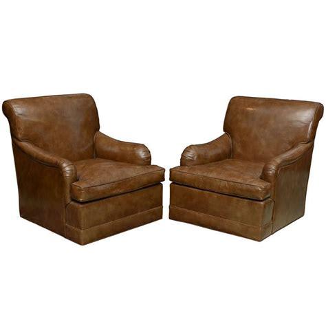swivel club chairs edward wormley dunbar pair of swivel club chairs glazed