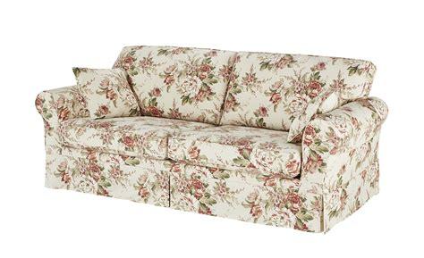 sofa blumenmuster soho sofa 3 sitzig mit husse chaneel m 246 bel h 246 ffner