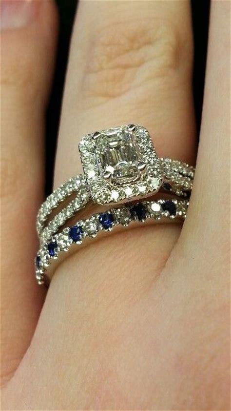 Kalung Choker Layer Saphire Blue Square vera wang rings with split emerald cut design womenitems